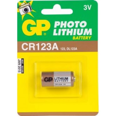 G.P Batterij Photo Lithiumcel Cr123A 3Volt