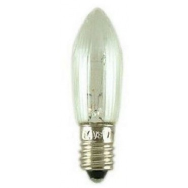 Kerstlamp Reservelamp LED E10 Candle 2200K 10-55V Clear ribbed